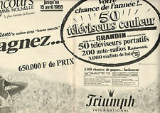 Publicité  Print AD 1968 ( Double page )  Lingerie Triumph soutien gorge slip
