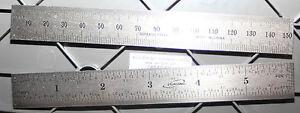 "34-006-N iGaging 6 Inch /150 MM Steel Scale/Ruler/Rule w/1/32"" End Scale"