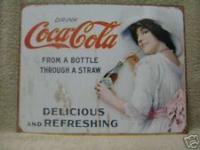 Vintage Look COCA COLA Coke Advertising Tin Metal Sign NEW
