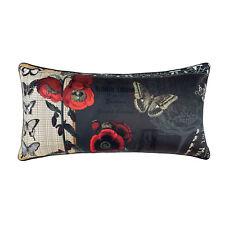 3 x Art Moderne Cushion Covers Scatter Throw 30x60cm Butterflies flowers Lavinia