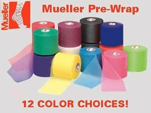 """1 Roll Mueller 2-1/2"""" X 30 Yards Athletic Pre-Wrap - 12 COLOR CHOICES"""