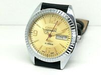 CITIZEN AUTOMATIC MEN,S STEEL PLATED VINTAGE GOLDEN DIAL MADE JAPAN WATCH ORDER