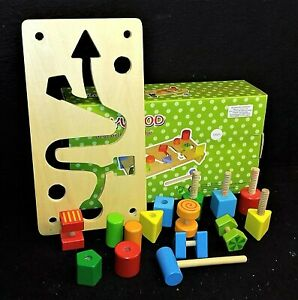 Activity bench - 16 wooden parts.  For babies 18 months plus