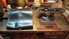 Antique Hammond Multiplex Typewriter Oak Base Tin Lid - As Found Project