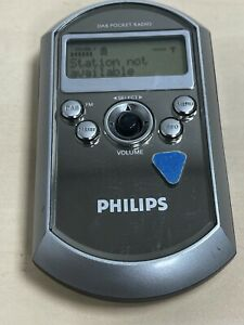 Philips DA1000 DAB/FM Personal Pocket Digital Radio, LCD Display - Silver