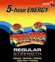 5-Hour Energy Shots, Berry Flavor Regular Strength Sugar-Free 12 or 24 Pack