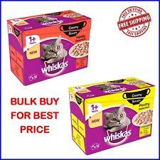 Whiskas 1+ crémeux soupe volaille/Classic (bombé) MEGA Pack CHAT PET FOOD vrac a...