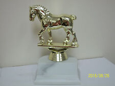 """Draft Horse award trophy, comes with engraving, 5"""" high"""