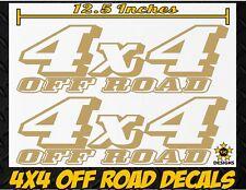 4x4 OFFROAD Truck Bed Decal Set METALLIC GOLD for Dodge RAM Dakota