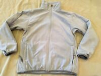 The North Face Fleece Jacket Large Girls Grey Full Zipper