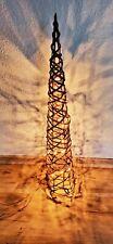 Holz Baum Leuchtzylinder Leuchtpyramide Weihnachtsbeleuchtung Lichterkette Deko