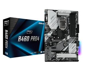 AsRock B460 Pro4 Mainboard Sockel 1200 DDR4 SATA III USB3.1 Zub. OVP #4137