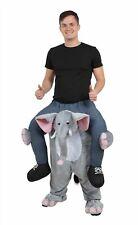 Piggy Back Step In Elephant Costume Zoo Safari Animal Adult Fancy Dress Stag Hen