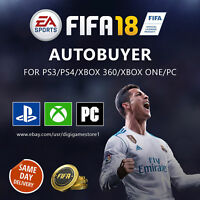 FIFA 18 Autobuyer for Ultimate Team (Make Easy Coins) Xbox, PS3/PS4, PC, Mac