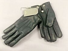 £195 Mulberry Leather Gloves, Mens Designer Soft Nappa Gloves Cashmere Lined 8,5