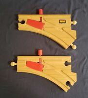 BRIO Mechanical Switches - Reversible - Thomas Wooden Railway Train Tracks VGUC