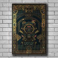 H758 New Bioshock Rapture Video Game Cover Custom Poster Print Art Decor