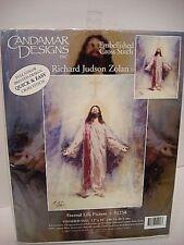 Candamar Designs Zolan Embellished Cross Stitch Jesus 51258 Eternal Life 12 x 16
