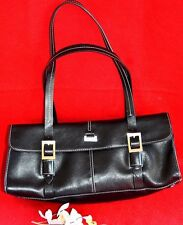 KENNETH COLE  REACTION  - ORIGINAL BLACK LEATHER  HAND BAG FOR ELEGANCE WOMEN