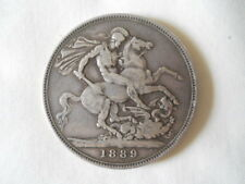 1889 Victoria Silver Crown British Coins