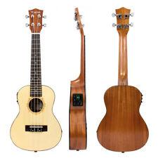 Top Soild Spruce Electric Acoustic Concert Ukulele Hawaii guitar 23 Inch