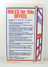 1984 Rules For The Office Sign Novelty Sign