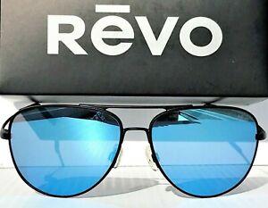 NEW Revo WINDSPEED Black 61mm AVIATOR Polarized Glass BLUE Sunglass 3087 01 GBL