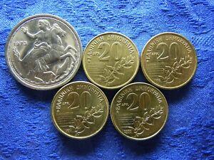 GREECE 20 DRACHMAI 1973 KM111.2, 1990, 1992, 1994, 2000 KM154