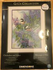 Dimensions Gold Collection Cross Stitch Kit  #35258-Chickadees & Lilacs(14 Ct)