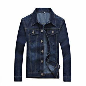 Fashion Men Retro Denim Slim Fit Jackets Button Short Jean Coat Outwear Tops