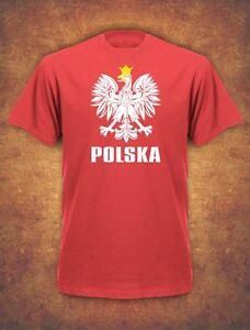 Koszulka Polska Polish Poland Football Euro Kibic 2021 T-shirt - Red