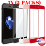 5-Pack 3D Full Coverage Tempered Glass Screen Protector for iPhone 7/8/X/Xs/Xr