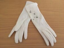 Vintage Women's Gloves Beaded Embroidered New Nwot Lillian Handmade Stretch