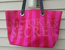 Victorias Secret Black Friday 2011 PiNK Bling Stripe Logo Large Big Tote Bag NWT