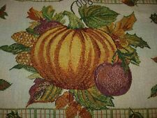 Set Of 3 Tapestry-Like Fall Placemats-Pumpkin Design-#R18