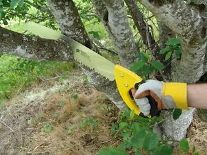 "Heavy Duty Tree Branch Hand Saw 25"" Bush Log Cutting Sharp Blade Pruning Wood"