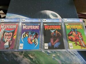 CGC Wolverine Limited #1 #2 #3 #4 1982 Marvel CGC 9.6 First Print White