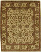 "Hand-Made  7'11"" x 9'10"" Hand-Knotted Ziegler Wool Area Rug Hand-Knotted   Ar..."