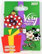 Disney Mickey Very Merry Christmas Party 2017 Elf Minnie 2 Pin Set LE 5300 NEW