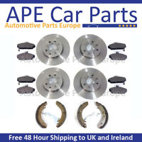 BMW 1 Series 120D E87 03-07 Front & Rear Brake Discs & Pads with Handbrake Shoes