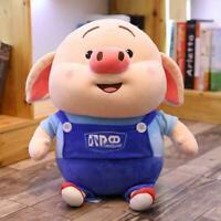 10/12 Zoll Nettes Schwein Piggy Super Soft Pp Plüsch Kisse Kissen Puppe Gef H8K8