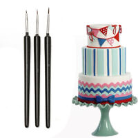 New 3X Cake Decor Brush Pen Paint Cupcake Sugarcraft Tools Dessert Pastry Decor