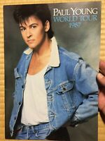 """""""Paul Young"""" Tourbook World Tour 1987 Marui Sound Special Booklet"""