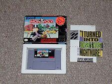 Monopoly Super Nintendo SNES Game & Box