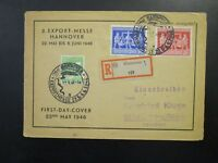 Germany SC# 584 & 585 First Day Cover / Sm Top Tear / Light Fold - Z6590