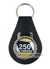 YAMAHA DT250  real leather keyring motorcycle keychain