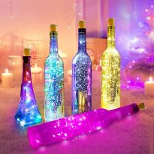 1M 2M LED WINE Bottle String Lights Battery Cork Shaped Christmas Wedding Party