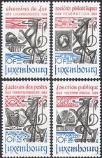 Luxembourg 1984 Trains/Railway/Stamps/S-on-S/Buildings/Transport 4v set (n42396)