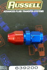 """Russell 639200 #6 6AN -6 Female to 3/8"""" Tube Hard Line Fitting  Metal  Red Blue"""