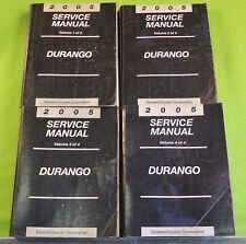 2005 Dodge DURANGO 4 Volume Factory Dealer's Service Manual Set